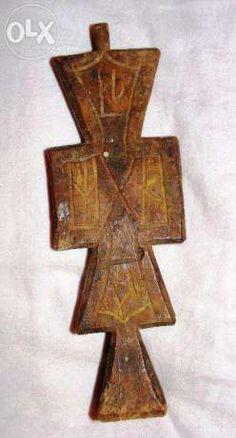 Pistornic vechi - sculptat Slatina - imagine 1 Wooden Crosses, Romania, Stamps, Symbols, Bread, Chair, Search, Table, Wood Crosses