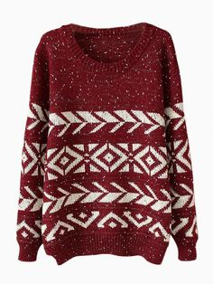A not-so-ugly Christmas sweater!   #npsanta @Lisa Cooksey Pillow   Winered Geometry Jumper In Twist Yarn
