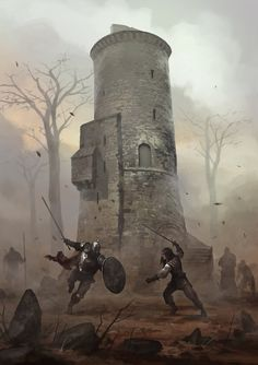 Tower by michalivan | Digital Art / Drawings & Paintings / Fantasy | Character Concept Warriors Swordsman Fighter Knight