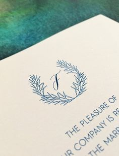 Modern Calligraphy with Hand-Drawn Crest and Forest by 622press