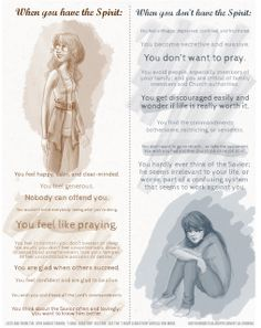 Holy Handouts: Young Women Manual 1 Lesson 4: Seeking the Companionship of the Holy Ghost or any lesson