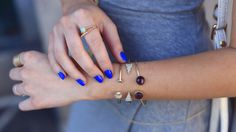 Stacked cuffs and cobalt nails