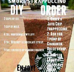 Starbucks Hacks, Starbucks Secret Menu Drinks, Starbucks Frappuccino, Starbucks Coffee, Smoothies, Smoothie Drinks, How To Order Starbucks, Frappe Recipe, Coffee Recipes