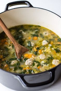 This Italian Wedding Soup is hearty and delicious! Perfect for those cold wintry days ahead!   The Beach House Kitchen