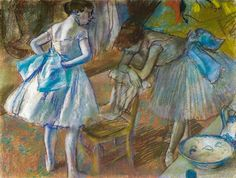 Edgar Degas - Two Ballet Dancers in a Dressing Room, 1880 at National Gallery of Ireland Dublin Ireland