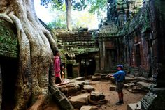 Photo shoot at Ta Phrom