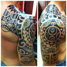 polynesian-half-sleeve-tattoo-07092013-3.jpg 600×600 pixels