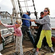 Adventure Sail aboard Californian  a unique one-of-a-kind adventure! Most weekends.  Adventure Sail is a four-hour adventure history sail aboard the schooner Californian. The Californian is a replica of a gold rush era revenue cutter and the Official Tall Ship of the State of California.  http://www.sdmaritime.org/adventure-sail/