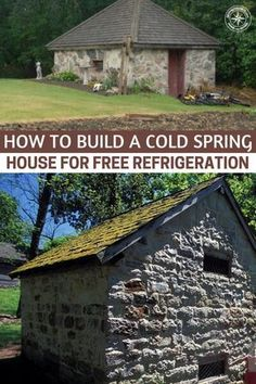 Building A Shed 7881368085697980 - How To Build A Cold Spring House For Free Refrigeration – A great option is to build a cold spring house. A spring house is a small building, usually one room, constructed over a spring. Homestead Survival, Camping Survival, Survival Prepping, Survival Skills, Survival Gear, Emergency Planning, Doomsday Prepping, Winter Survival, Survival Shelter