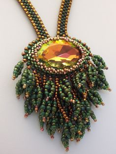 Pleasing colour combination and nicely shaped bezelled crystal - in Haute Ice Beadwork's 2011 Gallery