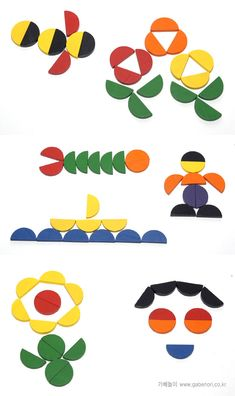 Mozaïek voor kleuters 4 Montessori Activities, Educational Activities, Activities For Kids, Cube Pattern, Pattern Blocks, Origami, Toddler Busy Bags, Tangram, Shape Pictures