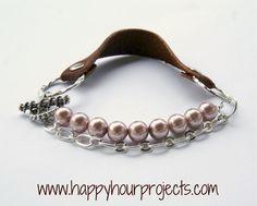 Mixed Media Leather Bracelet