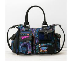 Bag with pockets and a blue design  31c73f5c8f