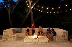 outdoor fire pit seating ideas - Google Search