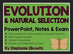 Evolution+PowerPoint,+Notes+&+Exam+(Differentiated+and+Editable)+from+Stephanie+Elkowitz+on+TeachersNotebook.com+-++(121+pages)++-+Delve+into+important+evolution+and+natural+selection+concepts+with+this+100%+editable+PowerPoint,+Notes+&+Exam!