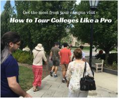 How to Tour a College Like a Pro | Your College Your Way.com As a college admissions consultant, I visit 10-12 colleges a year. Like you, the visit is a pivotal part of my ability to understand a school and its culture, and to see if it might be a good fit for the students that I work with. So how do I make sure I learn as much as I can on campus? I follow these tips:
