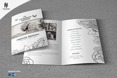 Black & White Style Funeral Template by Madhabi Studio on @creativemarket