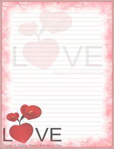 Printable Valentine Stationary | Sophia Designs PenPal Stationery