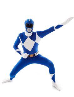 Este Morphsuit™ es perfecto para encarnar al Power Rangers™ azul en Carnaval.