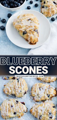 Blueberry Scones are a moist, tender and, simple Easter breakfast recipe made with a few staple ingredients. These sweet treats are drizzled with a sweet streusel topping and vanilla glaze. They are best served with tea or coffee. Make this for your Easter celebration!