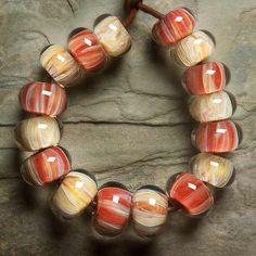 INDIAN SUMMER Lampwork beads