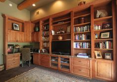 Custom wall unit by Closet Trends