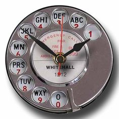 Recycled CD Clock Retro Telephone Dial A by whimsicalfishes,