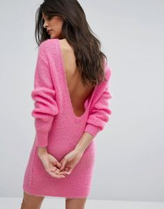 Scoop Back Mohair Tunic Dress