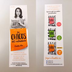 Punto de libro de 'Los chicos del calendario 3' (Titania) de Candela Ríos Album, Signs, Pin Up Girls, Guys, Book, Dots, Novelty Signs, Signage, Dishes