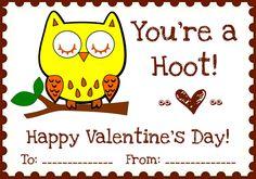 holiday, valentin printabl, school, printables, valentine day cards, night owl, owl valentin, owls, kid