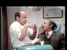 The Dentist - Tim Conway and Harvey Korman - No matter how hard HK tried to keep it together, Tim Conway always managed to break him. Dental Humor, Harvey Korman, Comedy Skits, Carol Burnett, I Love To Laugh, Funny People, Dentistry, Laugh Out Loud, Humor