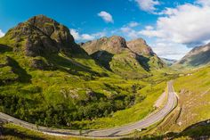 Step back in time to Britain's fiery past with this round-up of volcanic remains scattered across the country, including Glen Coe, Ben Nevis and Mount Snowdon. Highlands, Glen Coe, Scotland Holidays, Scotland Tours, Ben Nevis, Beautiful Roads, Seen, Next Holiday, Travel Info