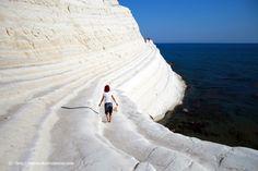 Off the Beaten Path: Scala di Turchi - Glaring White Rock Stairs on the Sicilian Coast Globe, Photos Voyages, Antelope Canyon, Italy Travel, Paths, Images, Coast, Adventure, World