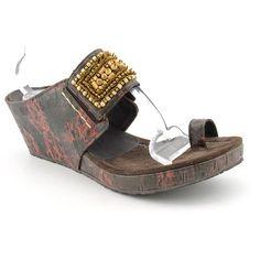 Donald J Pliner Gilett Slides Open Toe Wedge Sandals Shoes Purple Womens