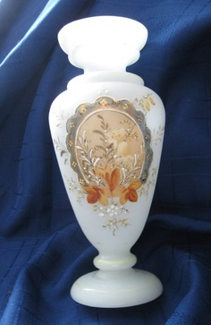 Victorian Antique White Bristol Glass