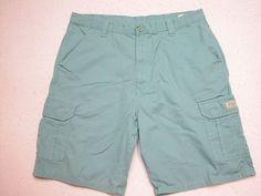 Mens Wrangler  Cargo Shorts Green Aquamarine sz 38 100% Cotton ( Measure 38X10 )…