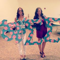 Matching shirts and letters for recruitment. TSM.