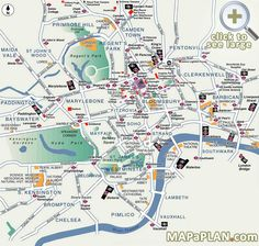 Best Map of London | Popular destination spots - London top tourist attractions map
