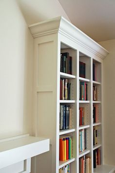 Shaker Style Living Room Bookcases
