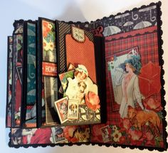 Part 8 How to make a 6 x 4 mini album with flaps from start to finish by Anne Rostad. ave fun creating :-)