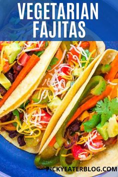 The aroma of these Smoky Vegetarian Fajitas will make you smack your lips and your stomach growl. Every bite is filled with lots of caramelized vegetables, spicy seasonings, protein-packed black beans, gooey Mexican cheese, and a crispy corn tortilla. Ready in 30 minutes and gluten-free too!