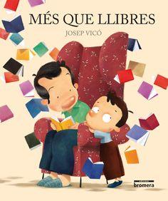 """Josep Vicó. """"Més que llibres"""". Editorial Bromera. Saps que hi ha llibres que t'atrapen si et descuides? Però no tingues por, deixa't portar per la imaginació, pel goig de llegir. La lectura ens alimenta, la lectura ens diverteix i ens ensenya. Els llibres són més que llibres! Llegir ens fa més intel·ligents, ens obri la ment i el cor. Llegim per a volar, per a riure, per a somiar, per a conéixer... Llegim per a viure. T'atreveixes a provar-ho?"""