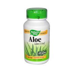 Nature's Way Aloe Vera Latex And Leaf - 100 Vegetarian Capsules
