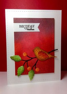 2 step bird punch: SU!, twig and berry die: MB,  by beesmom - Cards and Paper Crafts at Splitcoaststampers