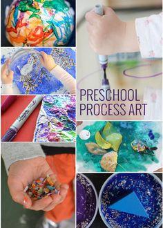 KIDS ARTS & CRAFT: 11 Process Art Projects for Preschoolers