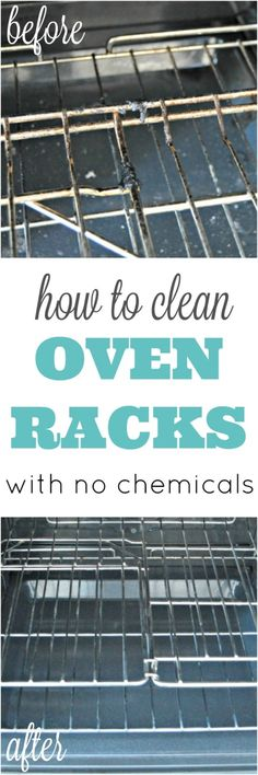 How To Clean Oven Racks Without Harmful Chemicals - Cleaning Hacks Household Cleaning Tips, Homemade Cleaning Products, Deep Cleaning Tips, Cleaning Recipes, House Cleaning Tips, Natural Cleaning Products, Cleaning Solutions, Spring Cleaning, Cleaning Hacks
