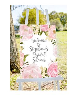 bridal shower welcome sign Welcome to bridal shower sign. Incredibly affordable DIY printable