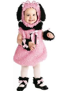 Precious Pink Poodle Toddler Costume