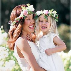 Girls Mommy and Me Flower Halo (4 Color Options)