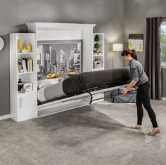 I-Semble Vertical-Mount Murphy Bed Hardware Kits with Mattress Platforms Ideal for guest beds, small Murphy Bed Frame, Murphy Bed Kits, Murphy Bed Desk, Murphy Bed Plans, Cheap Murphy Bed, Cama Murphy, Studio Loft, Murphy Bed Hardware, Murphy-bett Ikea